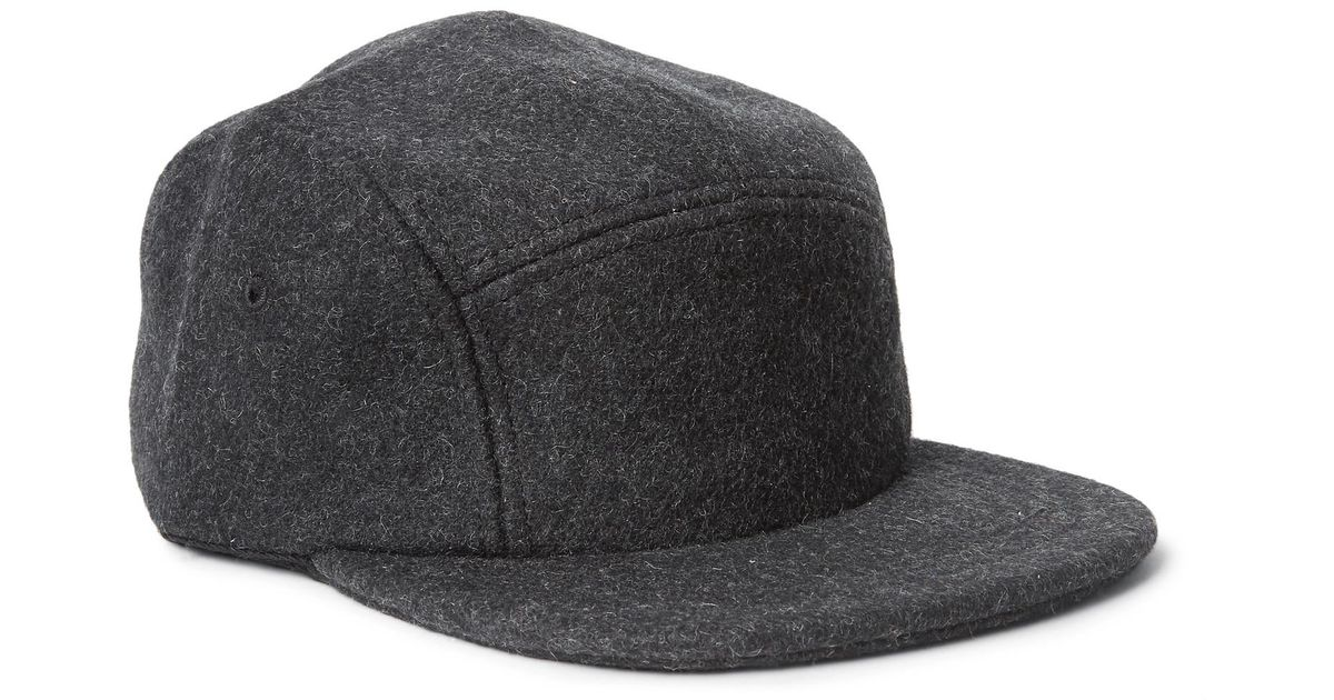 ff29e387a48 Filson Leather-trimmed Mélange Wool-felt Baseball Cap in Gray for Men - Lyst