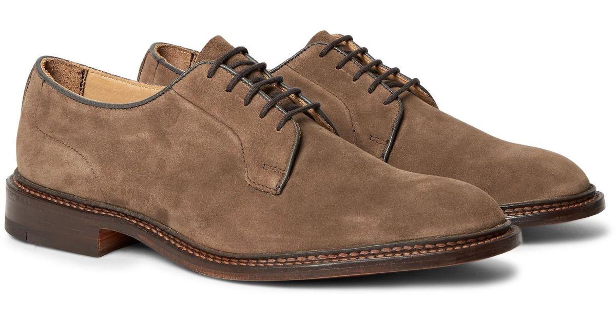 Tricker's Robert Suede Derby Shoes in