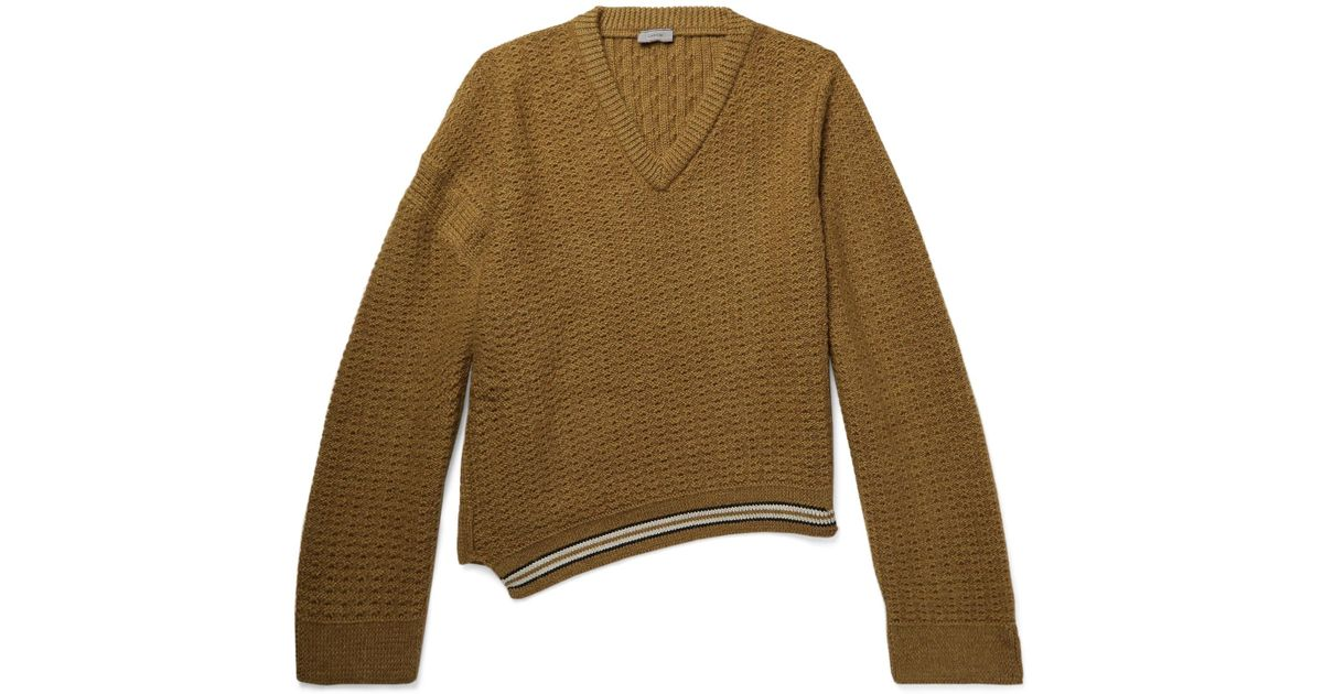 f0613b00e5bbe Lanvin Oversized Wool And Alpaca-blend Sweater in Brown for Men - Lyst
