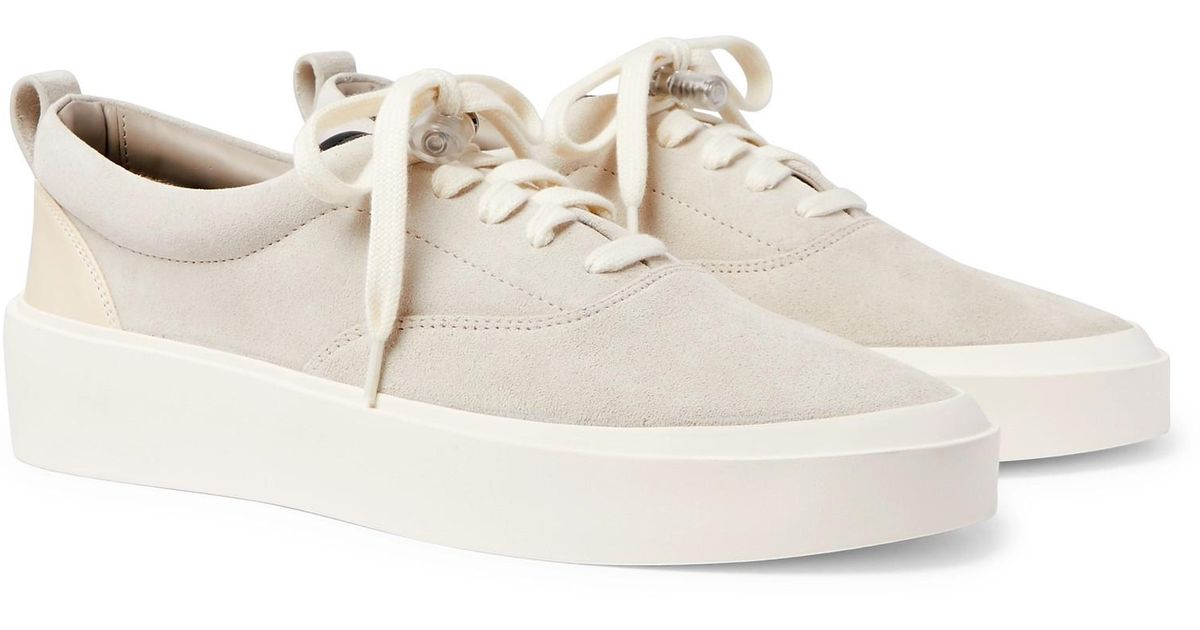 Fear Of God 101 Leather-trimmed Suede