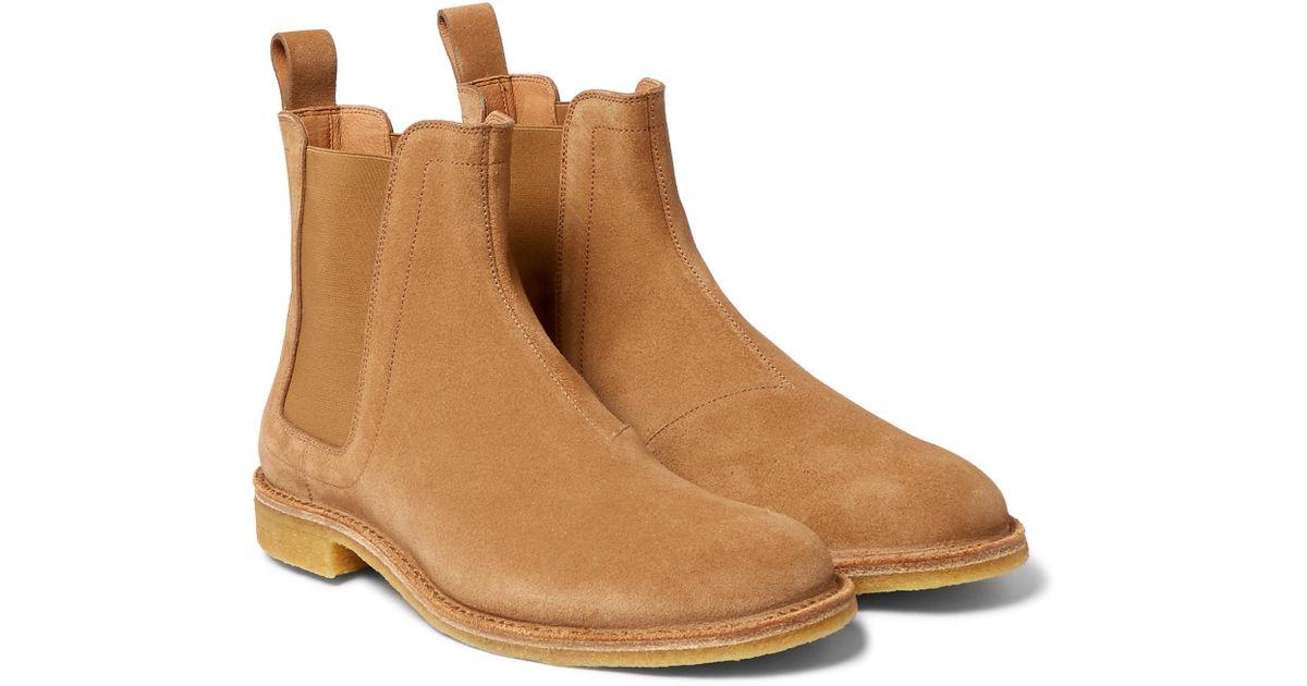 Bottega Veneta Suede Chelsea Boots in