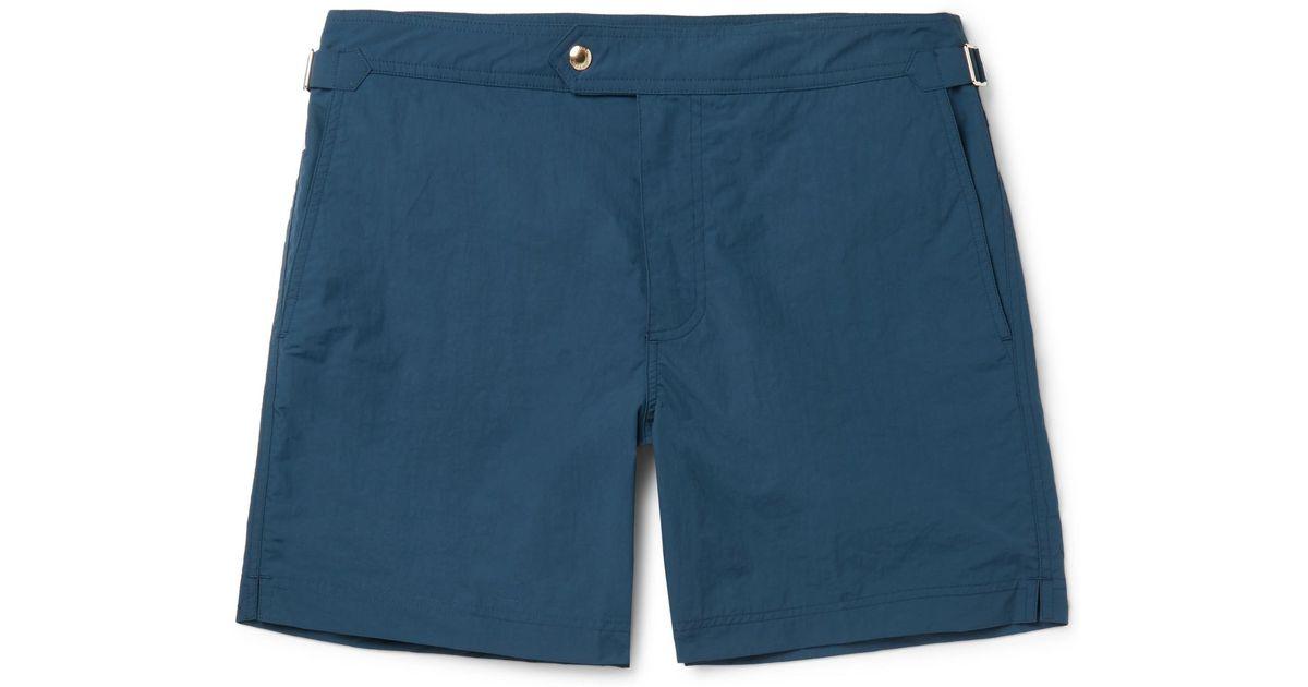 98655713ba Tom Ford Slim-fit Mid-length Swim Shorts in Blue for Men - Lyst