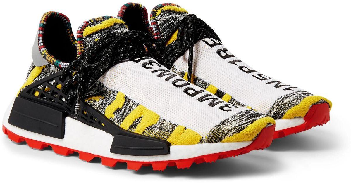 super popular 3b435 6f969 Adidas Originals - Yellow + Pharrell Williams Solarhu Nmd Primeknit  Sneakers for Men - Lyst