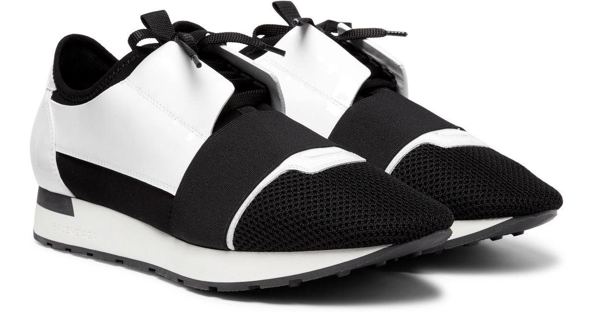 black and white balenciaga race runners