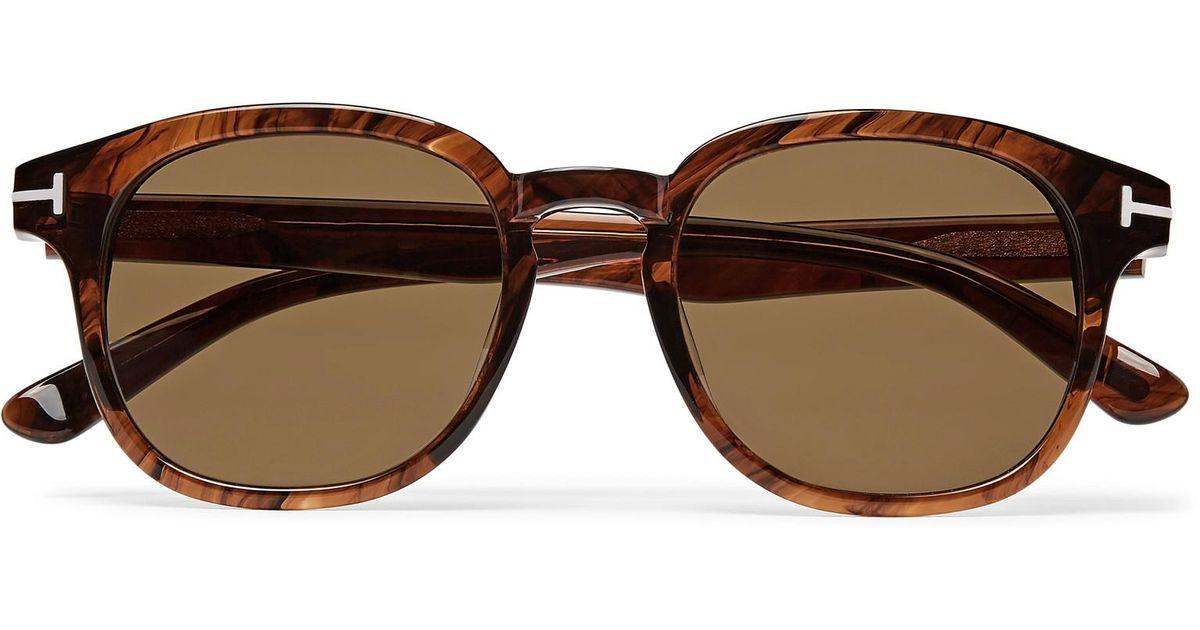 96dc8d15e89de Tom Ford Frank D-frame Tortoiseshell Acetate Sunglasses in Brown for Men -  Lyst