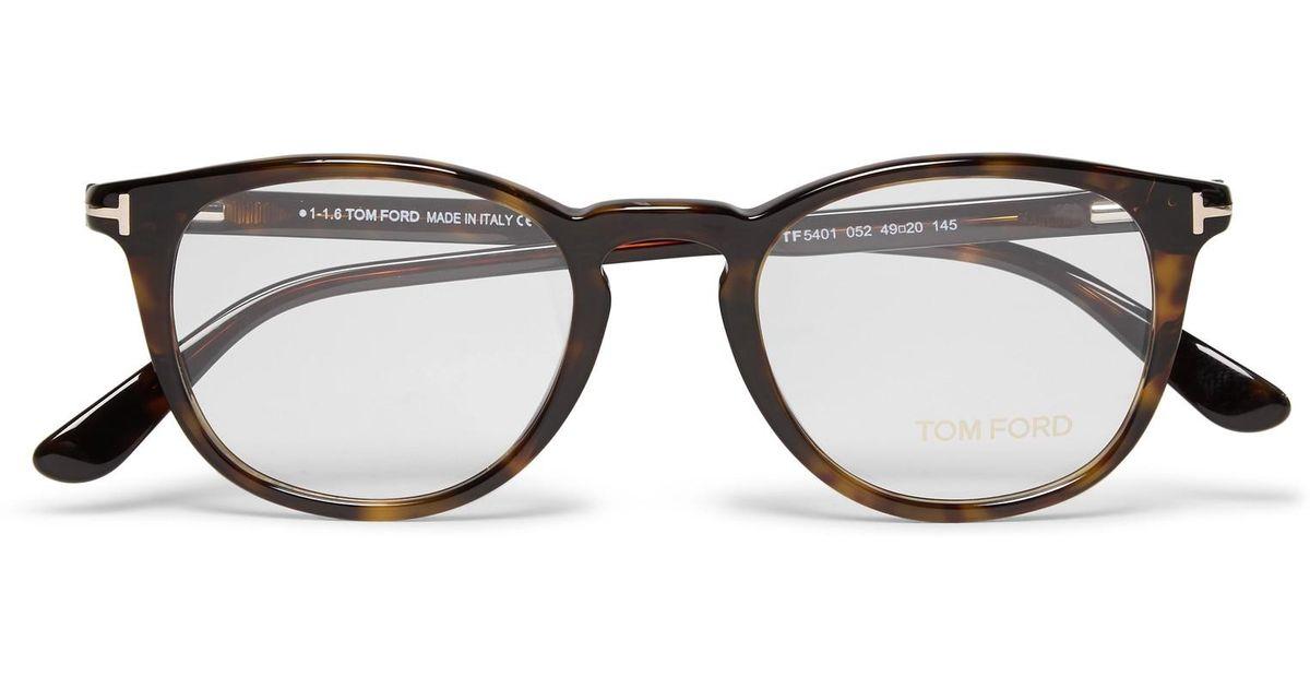 cae13b05e20a Lyst - Tom Ford Round-frame Tortoiseshell Acetate Optical Glasses in Brown  for Men