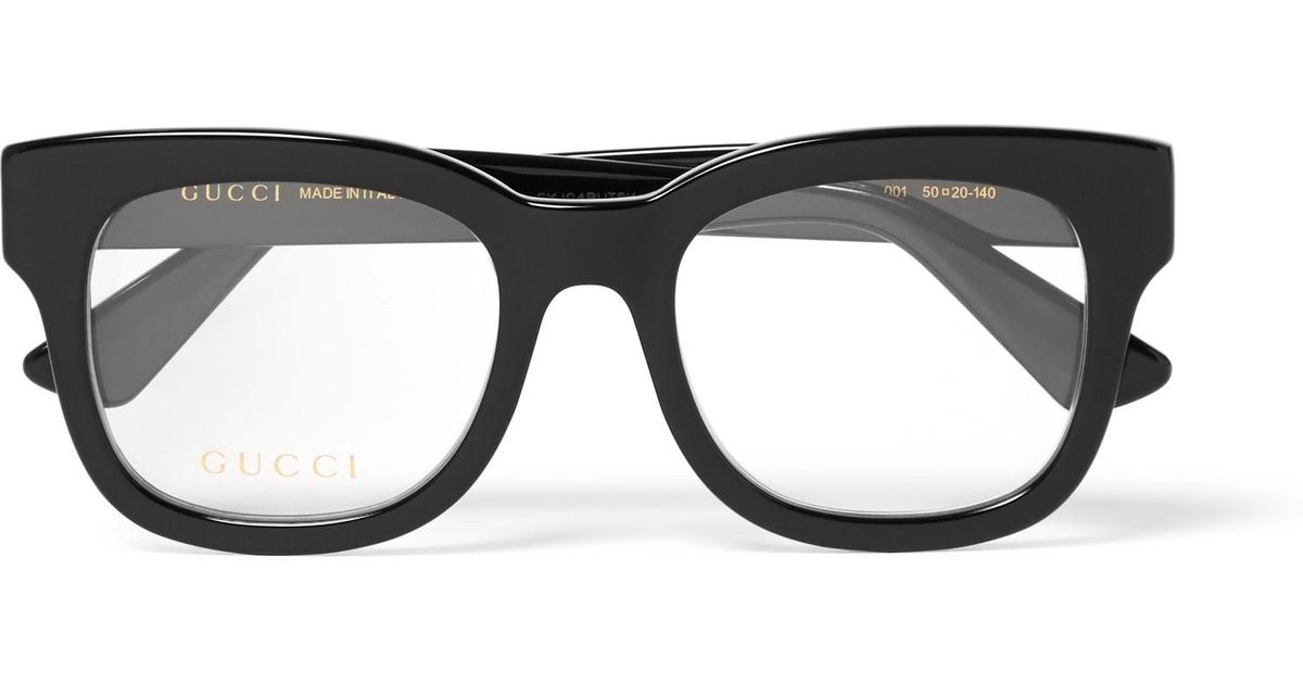 5cb66e0ae6d Lyst - Gucci Square-frame Acetate Optical Glasses in Black for Men