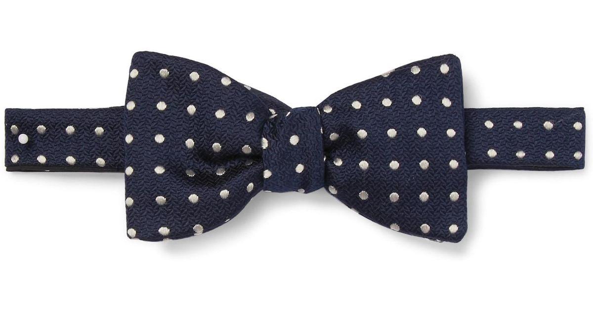 Pickwick Pre-tied Polka-dot Silk-jacquard Bow Tie Favourbrook MpHT8m