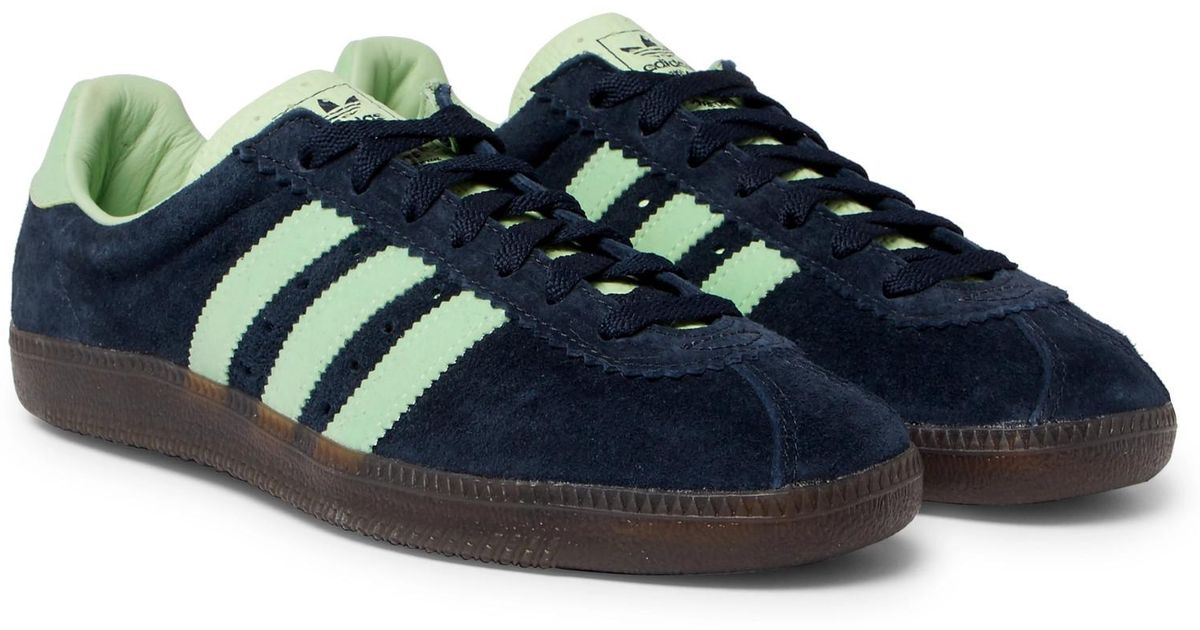 Presa Orador Miedo a morir  adidas Originals Padiham Spezial Leather-trimmed Suede Sneakers in Navy  (Blue) for Men - Lyst