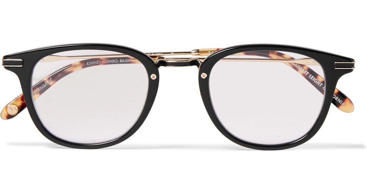 8fb7f94d725 Lyst - Garrett Leight Kinney Combo Round-frame Acetate Optical Glasses With  Clip-on Uv Lenses in Brown for Men