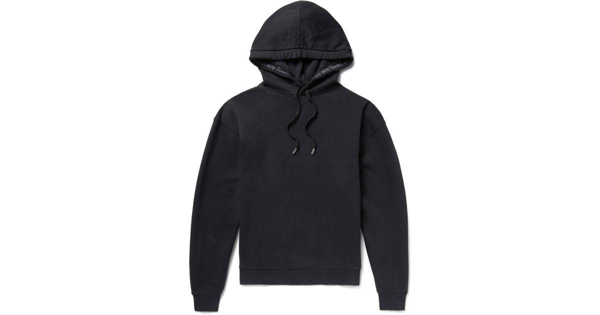 Fairview Fleece-back Cotton-jersey Sweatshirt Acne Studios Free Shipping Low Cost aCD5SqF
