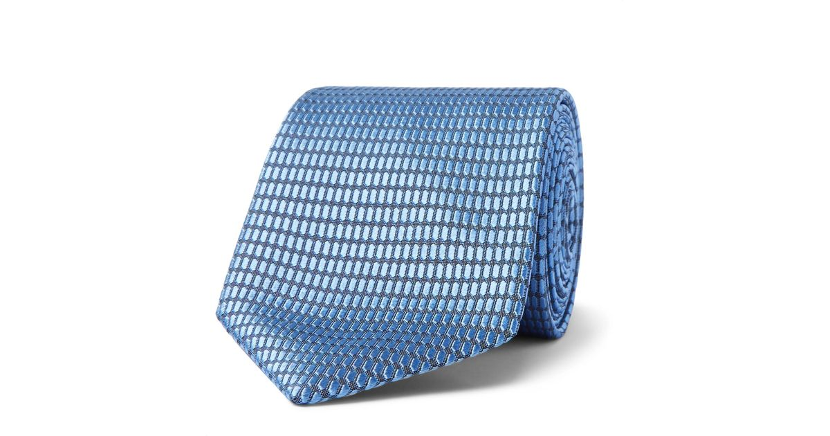 7cm Paisley Silk-jacquard Tie Ermenegildo Zegna 4nDgC