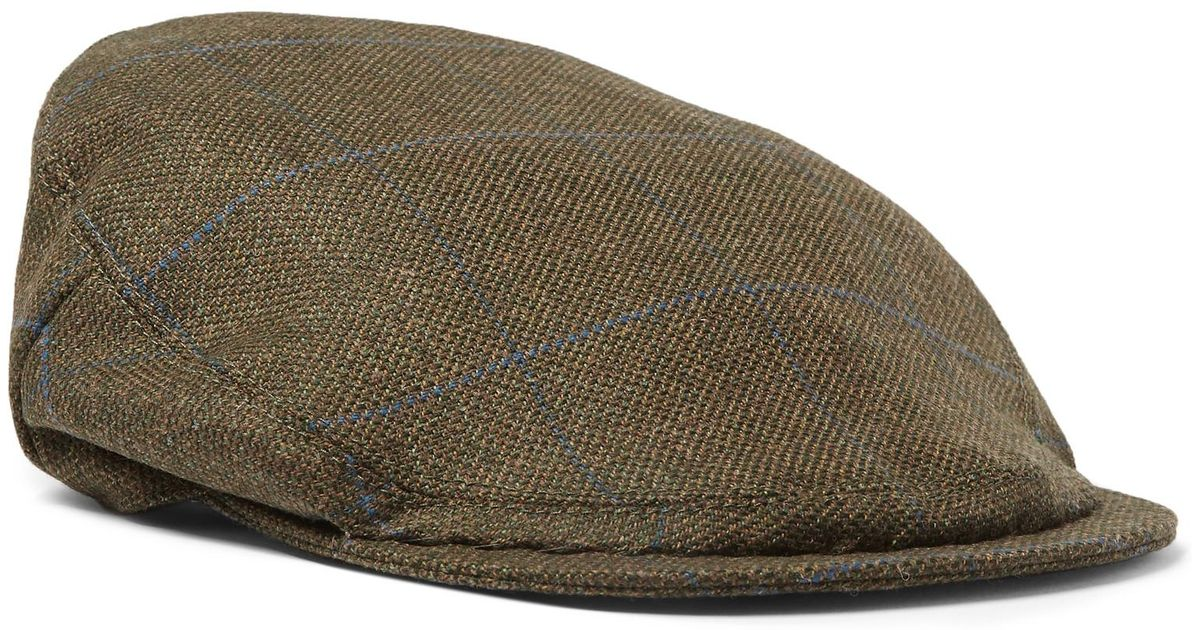 699342752c98b Lyst - Musto Shooting Checked Wool-blend Tech-tweed Flat Cap in Green for  Men