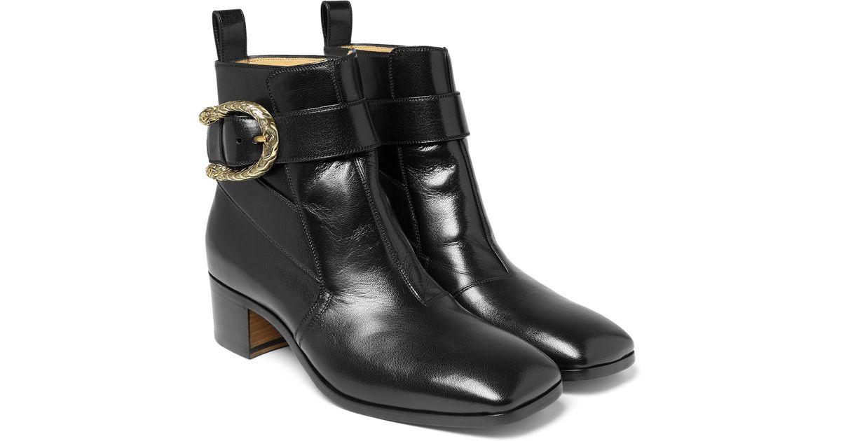 315a17b6909 Gucci Black Leather Jodhpur Boots for men