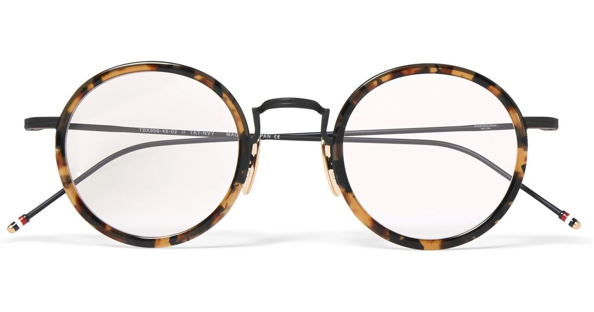 682cc4a2cbee Lyst - Thom Browne Round-frame Tortoiseshell Acetate Optical Glasses in  Brown for Men