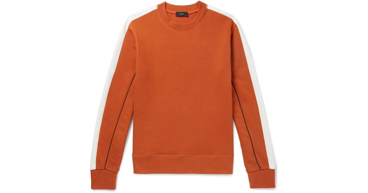 ebdfcfa83 joseph-orange-Colour-block-Loopback-Cotton-jersey-Sweatshirt.jpeg