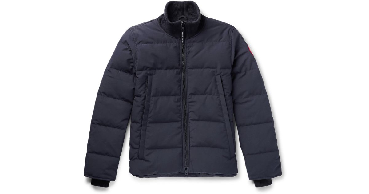 a046842528c Canada Goose Woolford Slim-fit Quilted Shell Down Jacket in Blue for Men -  Lyst