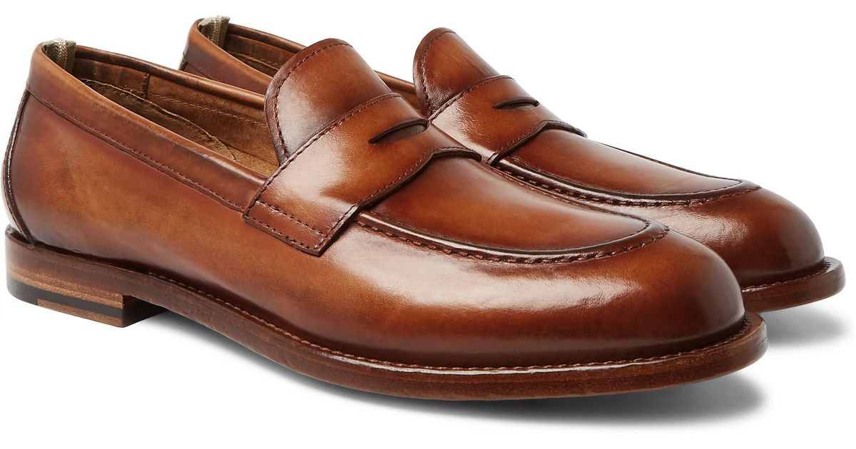61c255b0d92 Lyst - Officine Creative Ivy Polished-leather Penny Loafers in Brown for Men