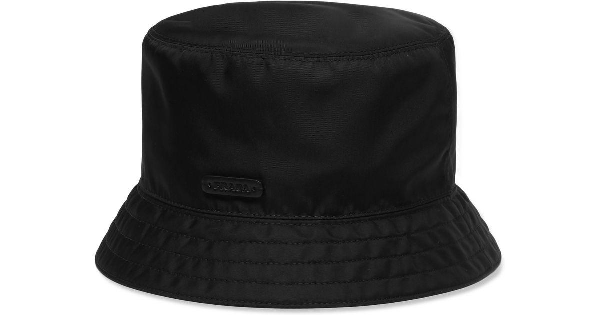 Lyst - Prada Twill Bucket Hat in Black for Men fd6523d0cde