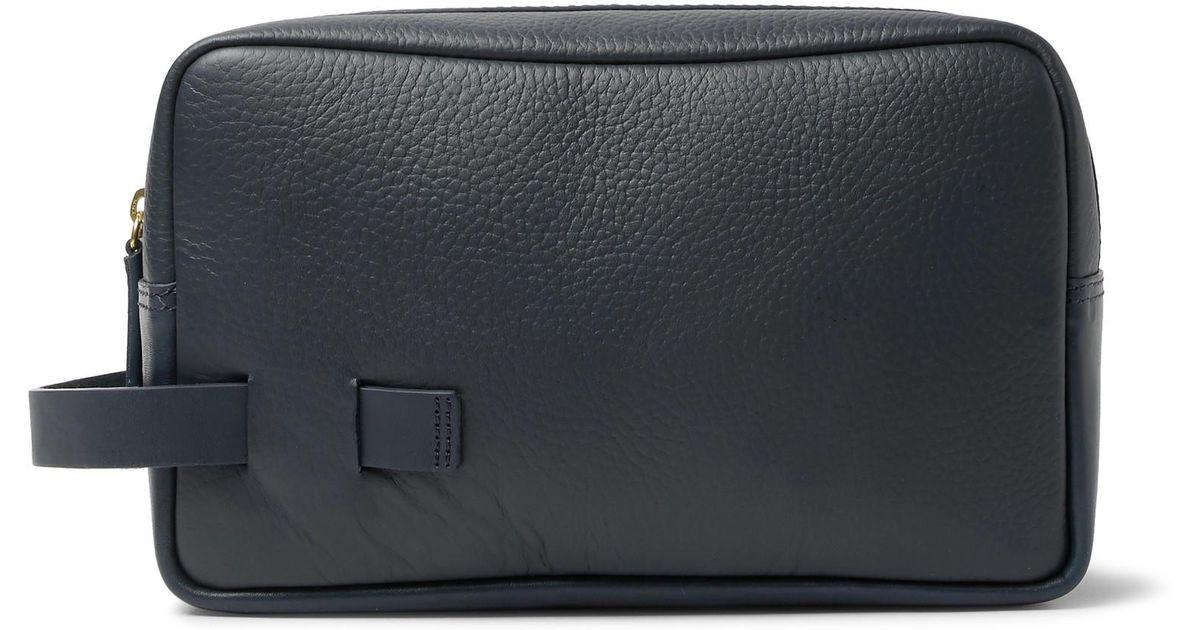 Full-grain Leather Wash Bag - Navy Miansai Sj0TK0