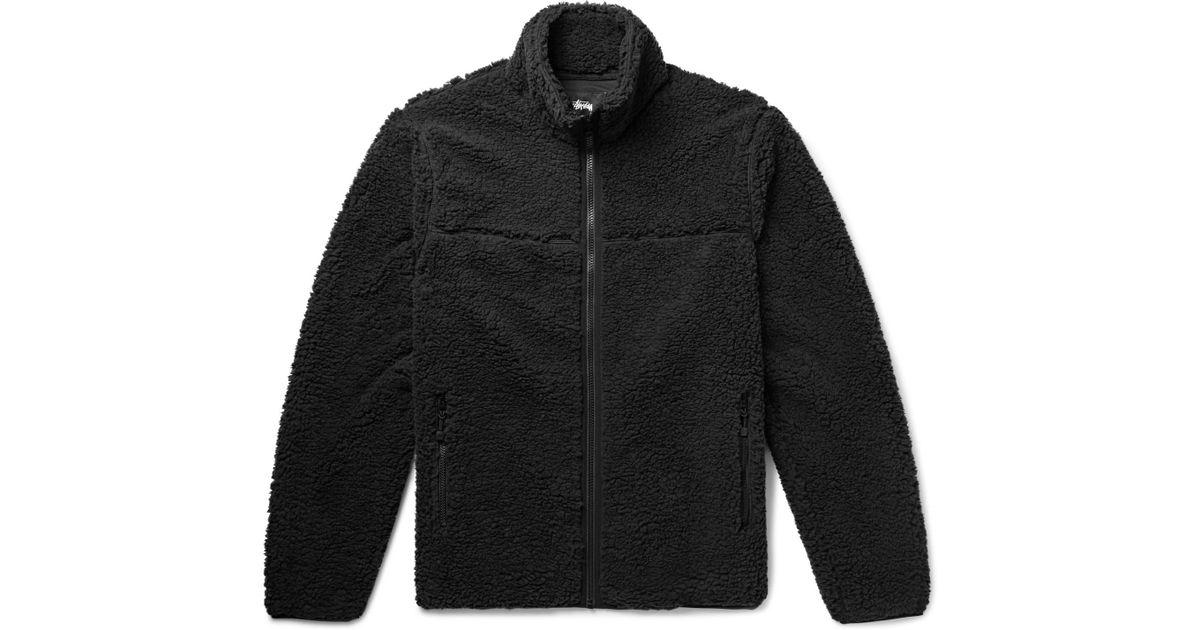3a291bfff Stussy Black Sherpa Fleece Jacket for men