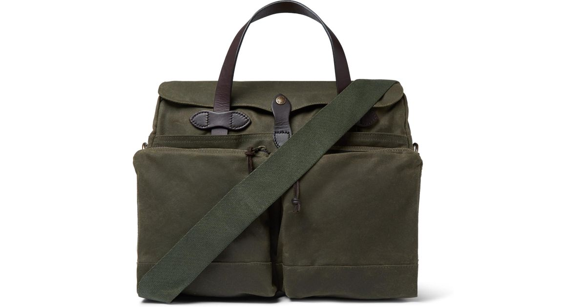 Briefcase Canvas Filson Coated 24 Hour Trimmed Lyst In Leather w1pPBBA