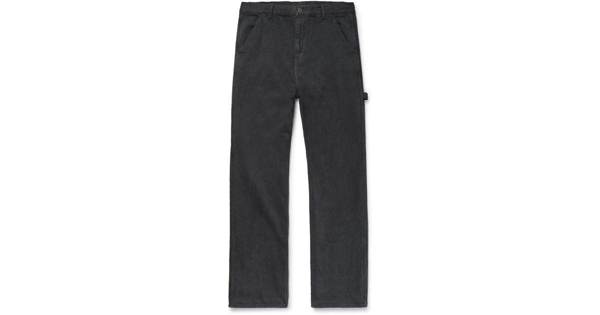 Joshua Wide-leg Cotton-twill Trousers Simon Miller BlbfEtmYf4