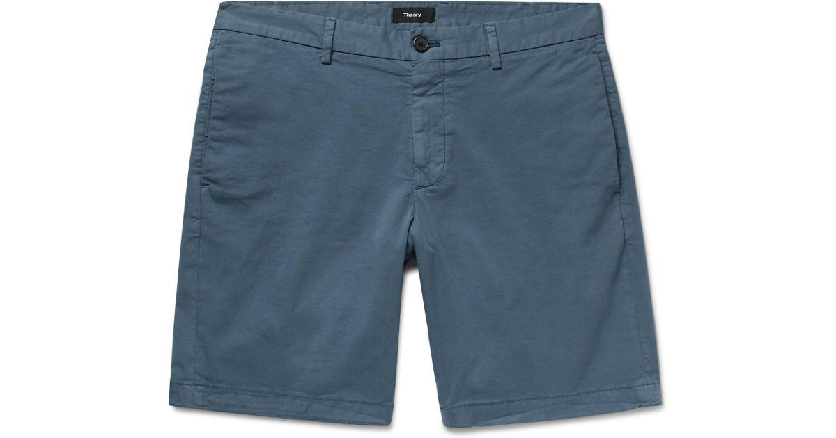 Zaine Slim Sergé Stretch Coton Lavé Short Théorie TPSDiJ8q