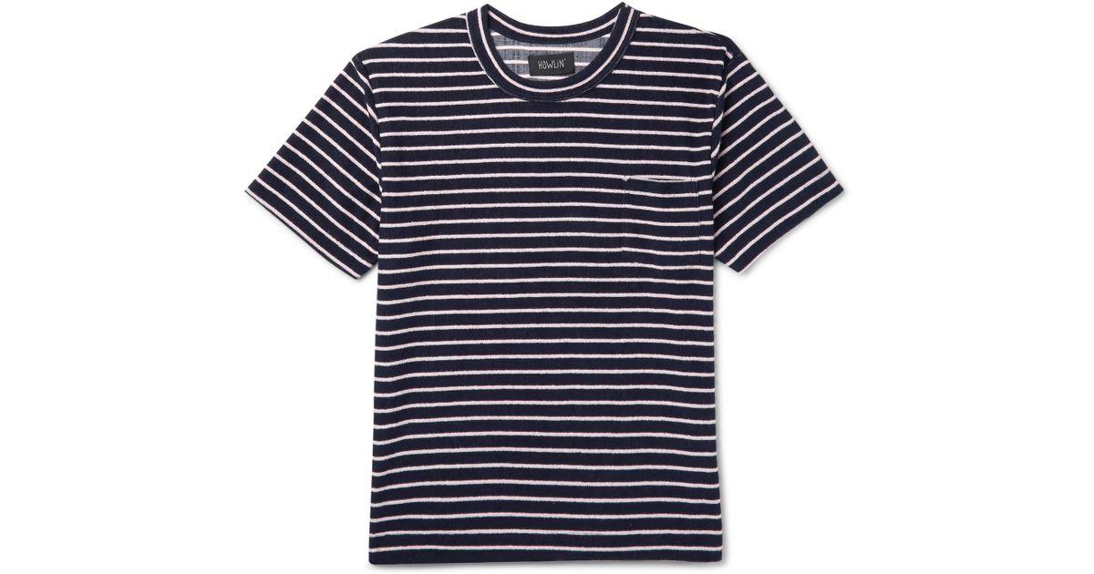 en Morrison para Terry azul Cotton hombre Killer Psycho Howlin Lyst  camiseta Blend Striped  By p5BzqwxF 1a8e9804c2bee