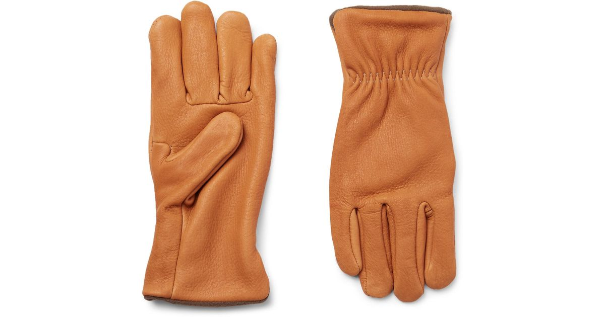 7ff9d592 Best Made Company Fleece-lined Nubuck Gloves for Men - Lyst