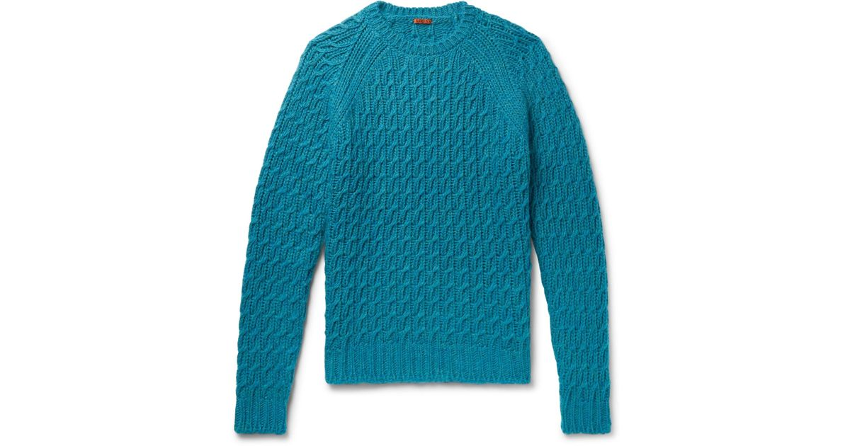 Barena fit Slim Petrol Cable Sweater knit XaXp0qP