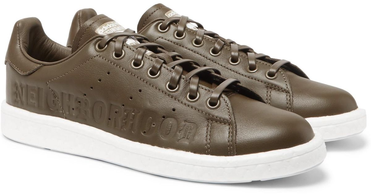 e774c199562156 Lyst - adidas Originals + Neighborhood Stan Smith Leather Sneakers for Men