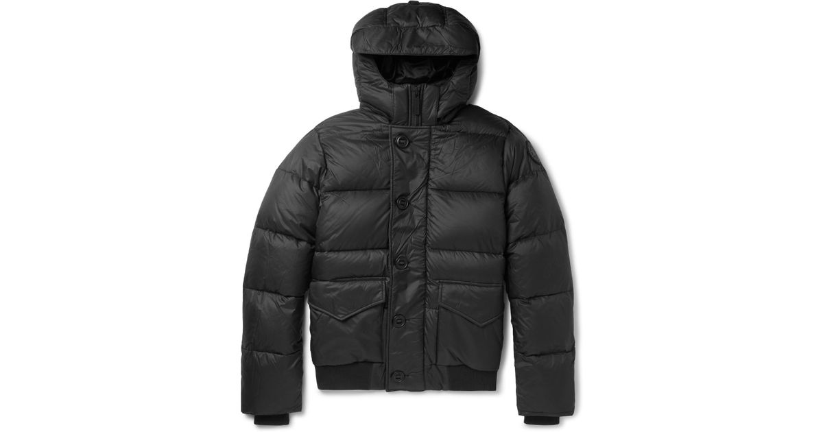Canada Goose Black Ventoux Quilted Nylon Hooded Down Jacket for men