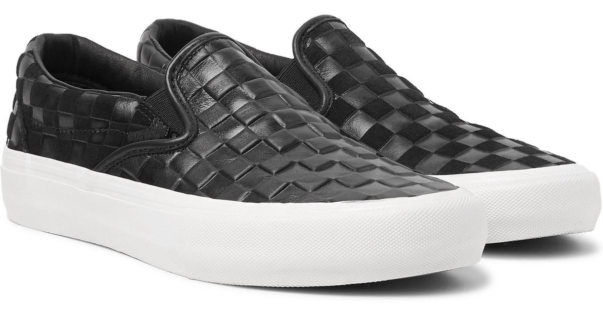vans checkerboard leather