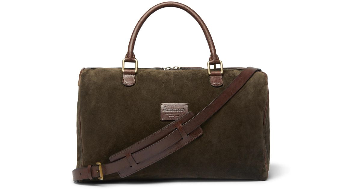 Holdall Grain Leather In And Suede Andersons Lyst Small Full Green aWn0qfc