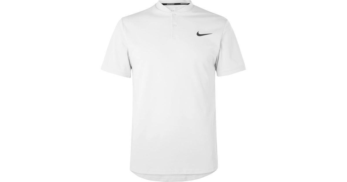 1b350b44f Nike Nikecourt Advantage Dri-fit Tennis Polo Shirt in Gray for Men - Lyst