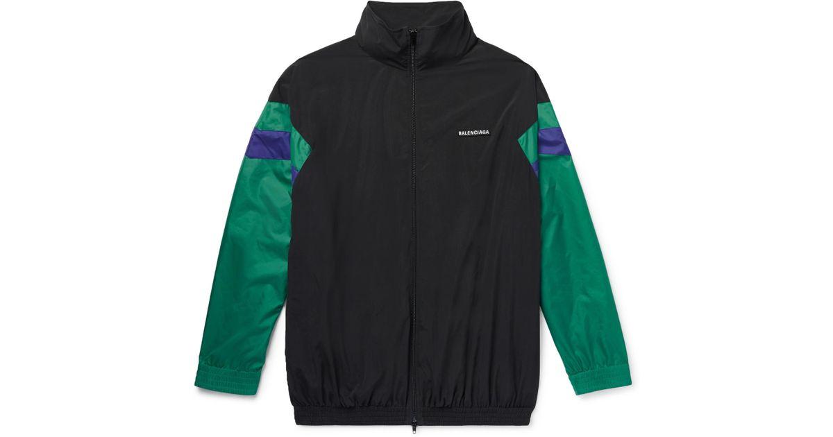 7076a8507 Balenciaga Colour-block Shell Track Jacket in Black for Men - Lyst