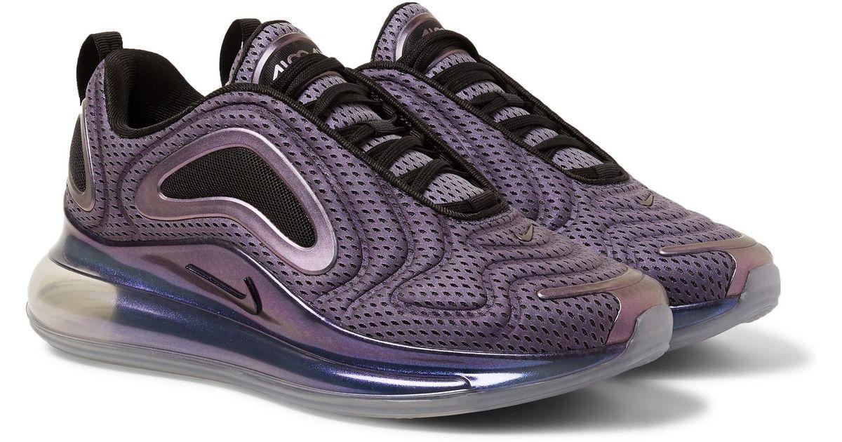 Nike Purple Air Max 720 Aurora Borealis Mesh Sneakers for men