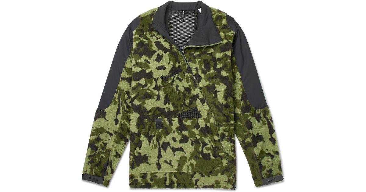 66a53c25d4f0 Nike X Alyx Mmw Two-part Camouflage Hooded Fleece Jacket in Green for Men -  Lyst