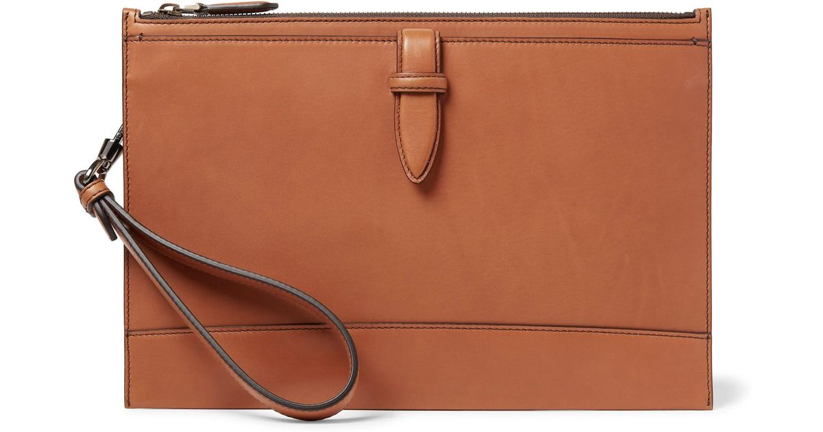 660b83e4 Ermenegildo Zegna Brown Leather Pouch for men