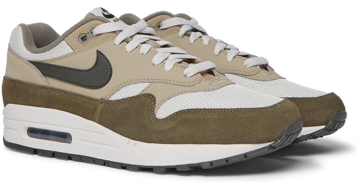 Nike Air Max 1 Suede, Nubuck And Mesh