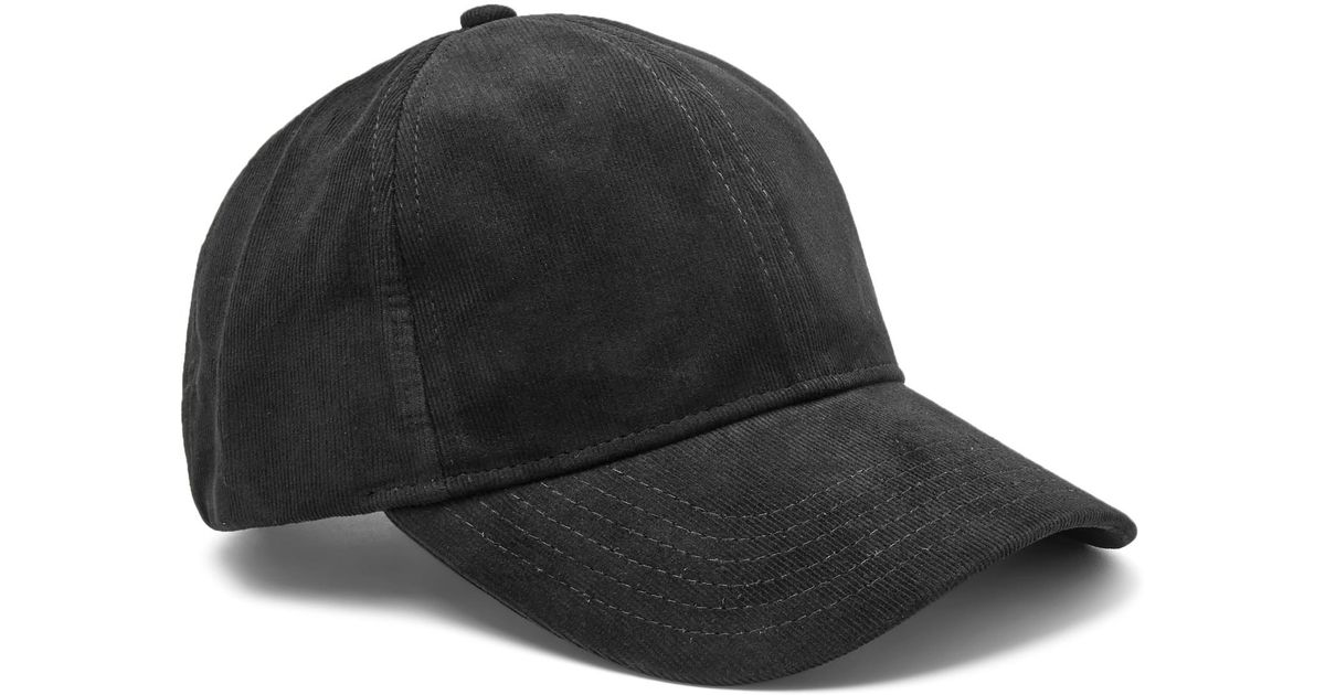 ba8411a91cb Lyst - NN07 Cotton-corduroy Baseball Cap in Black for Men