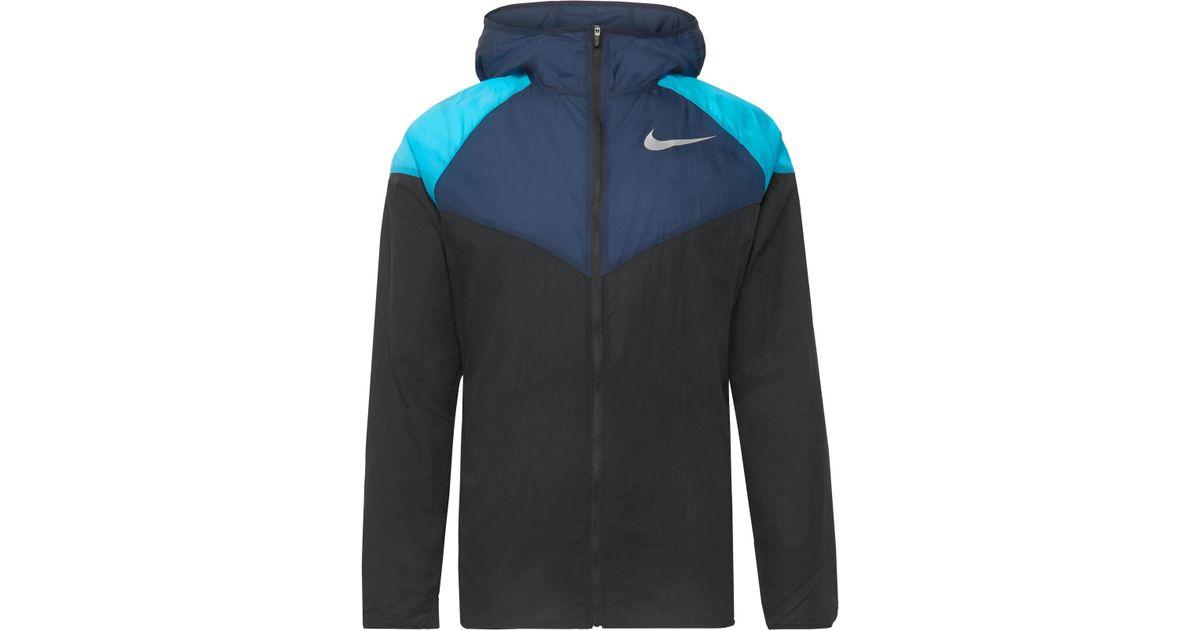 cf17ac983 Lyst - Nike Windrunner Colour-block Nylon-ripstop Hooded Jacket in Black  for Men