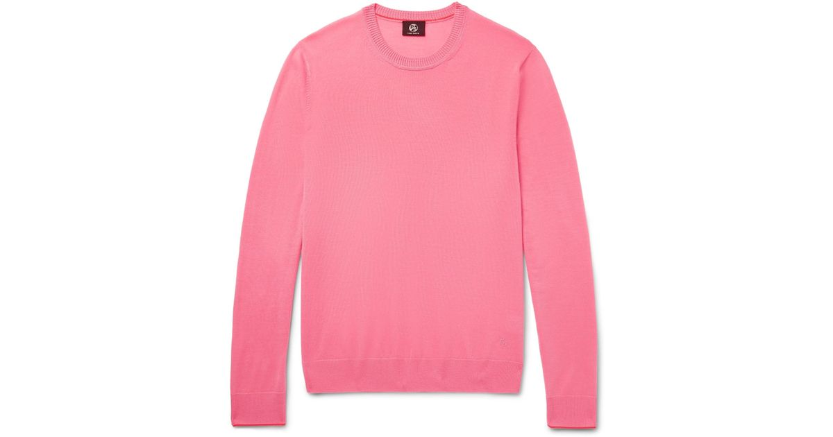 Contrast Pink By Sweater Men For Tipped Lyst Paul Wool Ps Merino Smith In vxpIq