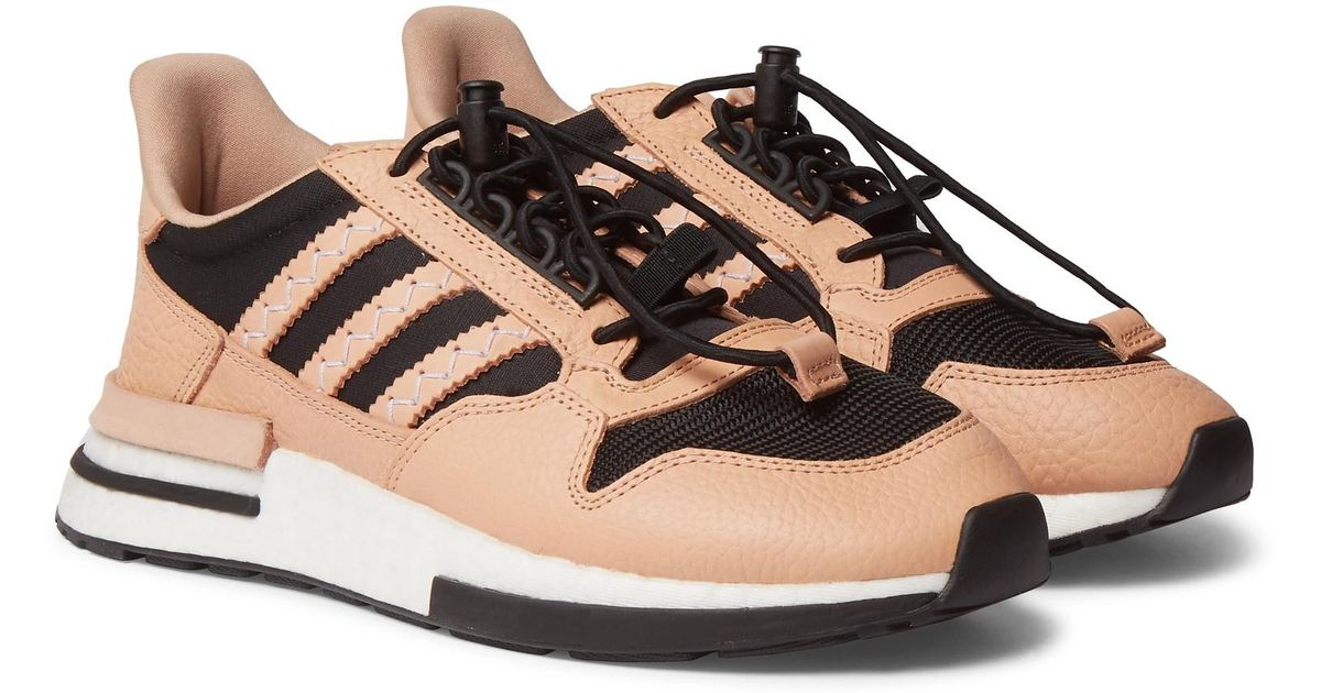 separation shoes da1d2 f25f2 Adidas Originals Black Hender Scheme Zx 500 Rm Mt Leather And Mesh Sneakers  for men