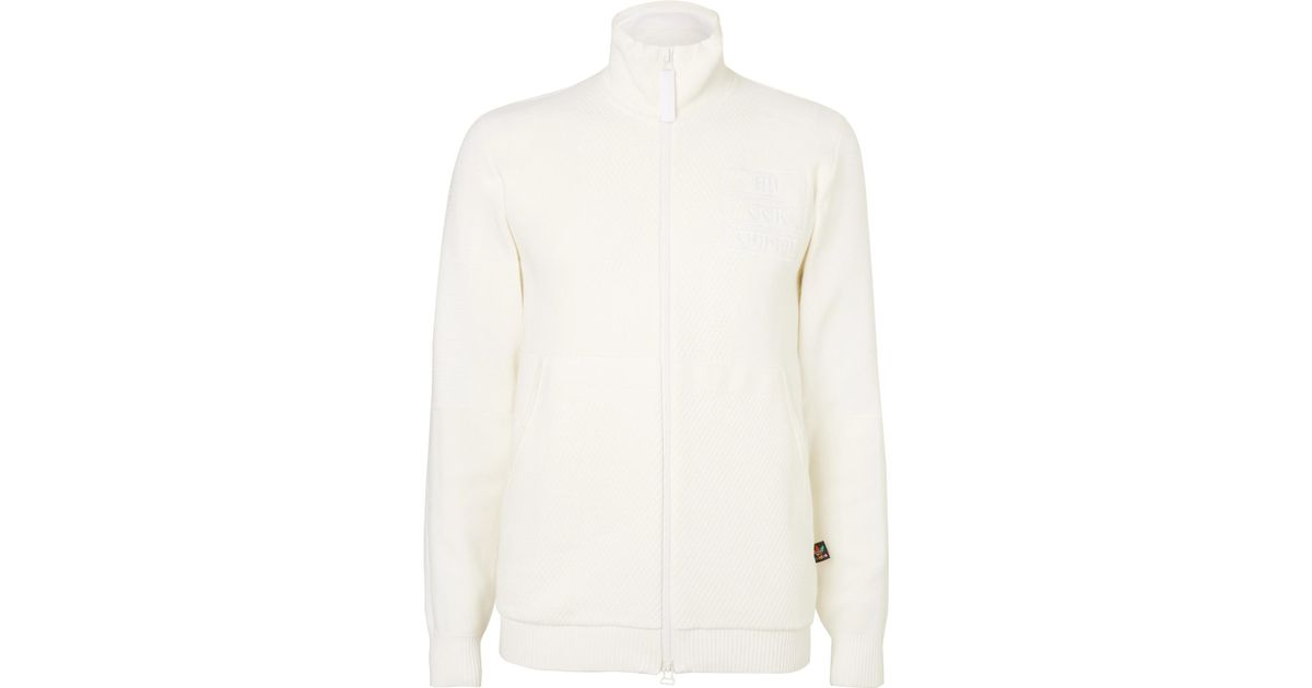 40cec87160814 Adidas Originals White + Pharrell Williams Hu Holi Cotton-blend Track  Jacket for men