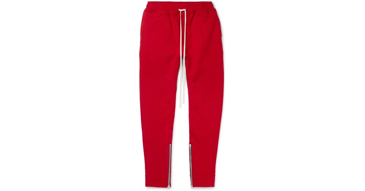 Slim-fit Tapered Loopback Cotton-jersey Drawstring Trousers Fear of God From China Low Shipping Fee YIZUH