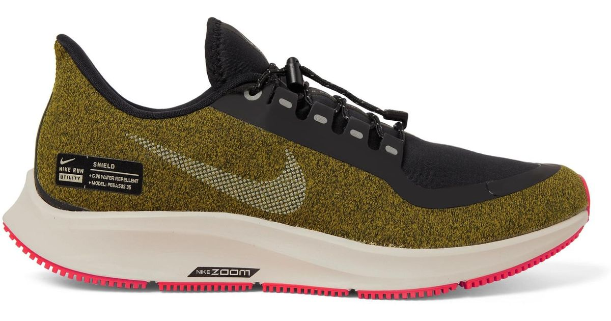 Lyst - Nike Air Zoom Pegasus 35 Shield Water-repellent Sneakers in Green  for Men 1a25851a6