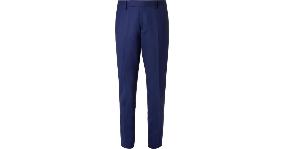 Royal-blue Soho Slim-fit Cotton Trousers Paul Smith
