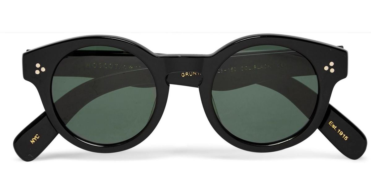3506ad6b4c Moscot Grunya Round-frame Acetate Sunglasses in Black for Men - Lyst
